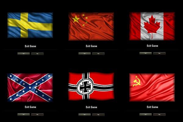 Hawg's 30 Exit Game Flag Backgrounds V2