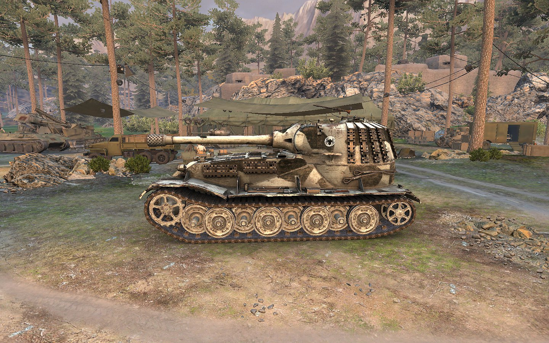 VK7201 Gun and turret on PzkpfwVII