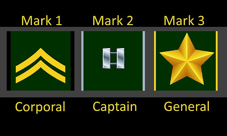 Hawg's Army Rank Mark Of Excellence
