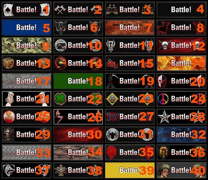 40 Battle Buttons